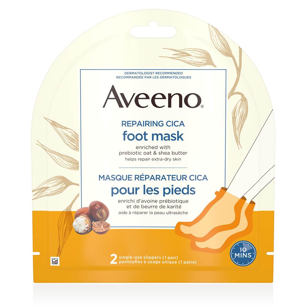 Emballage du masque réparateur pour les pieds Aveeno