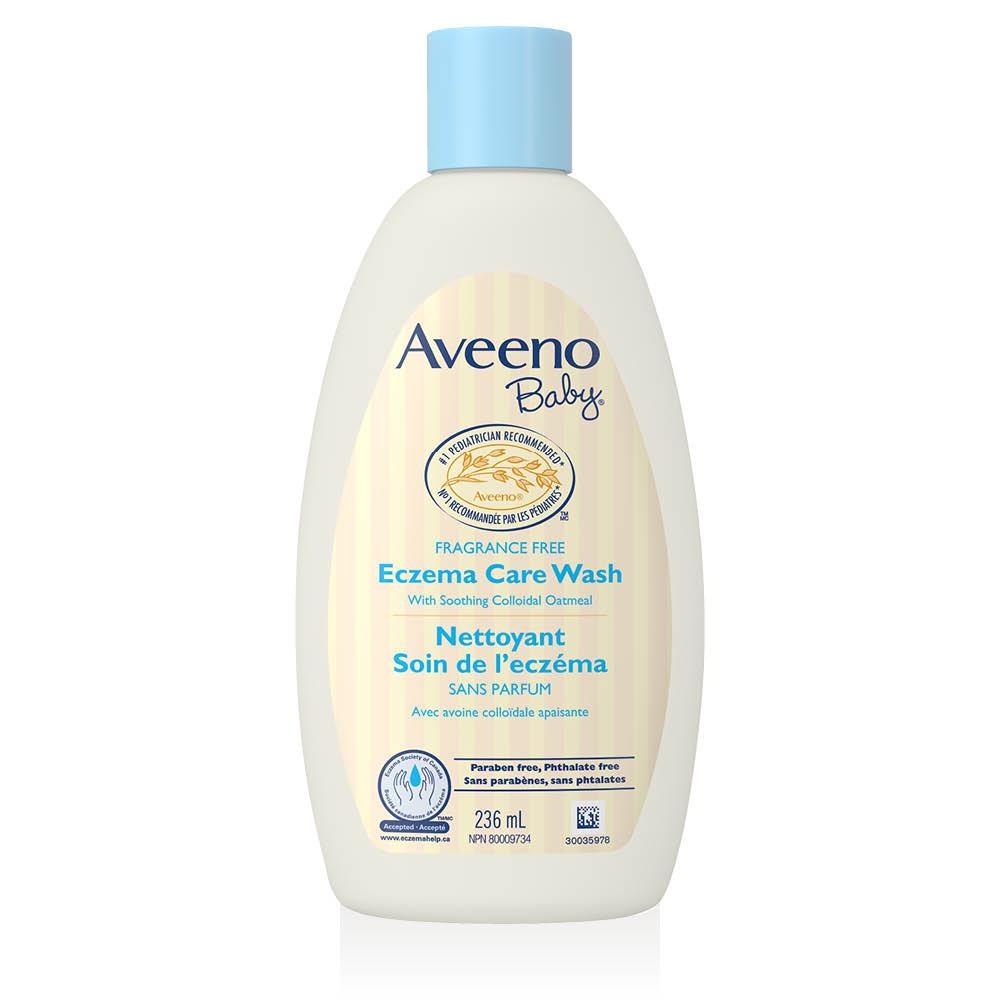 Flacon du nettoyant non parfumé pour bébés Aveeno Soin de l'eczéma