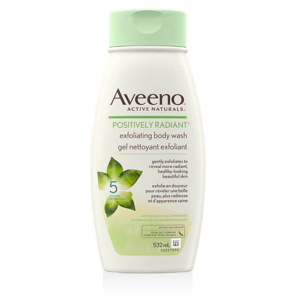 Flacon du gel nettoyant Aveeno positively radiant