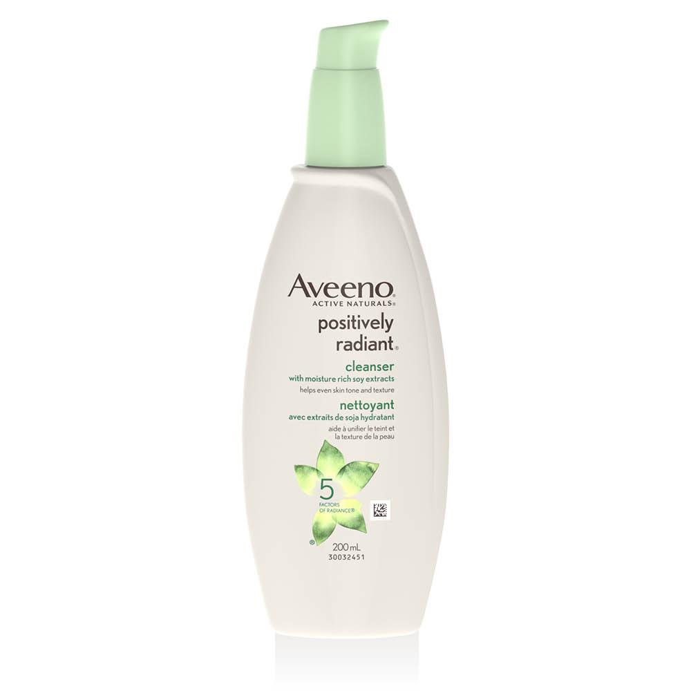 Flacon-pompe du nettoyant pour le visage Aveeno positively radiant