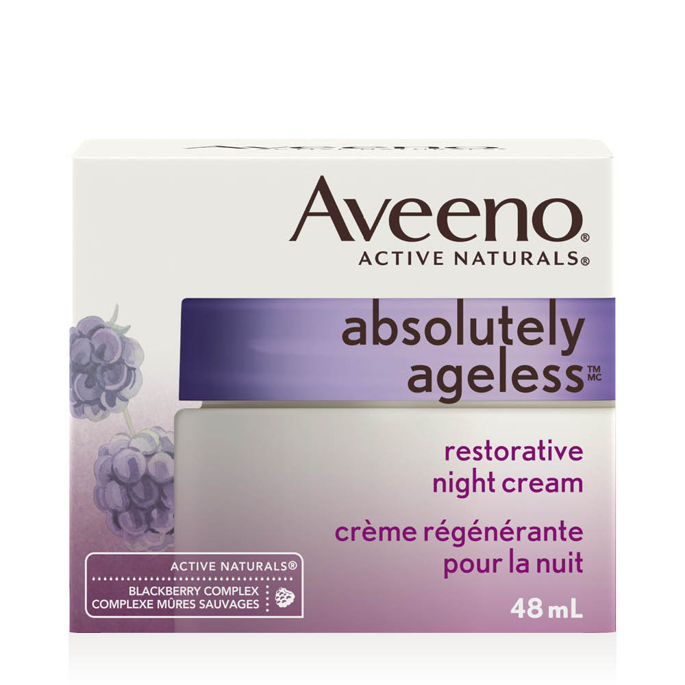 aveeno absolutely ageless night cream box