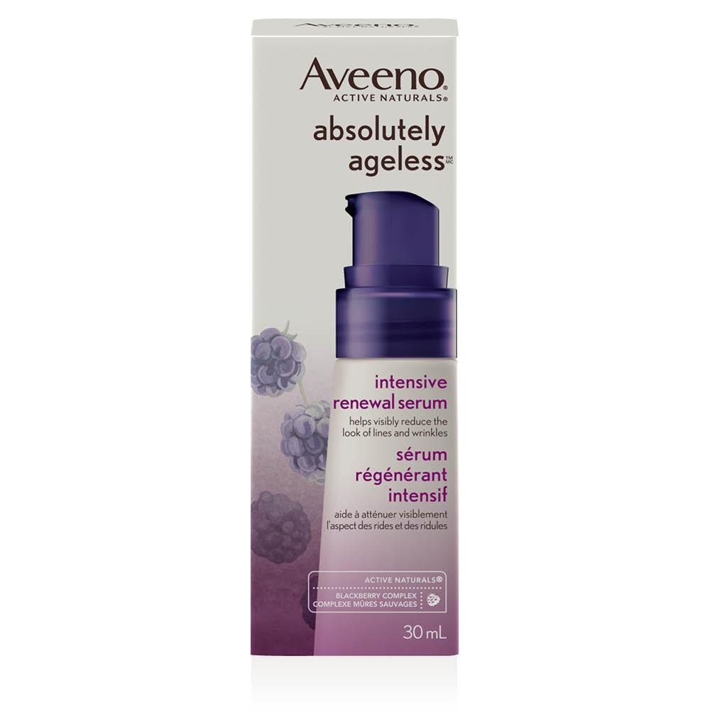 Boîte du sérum Aveeno absolutely ageless