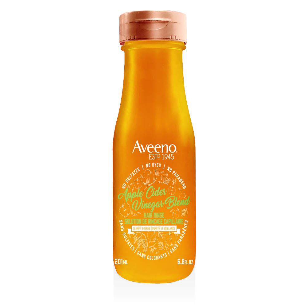Flacon de la solution de rinçage Aveeno au cidre de pomme