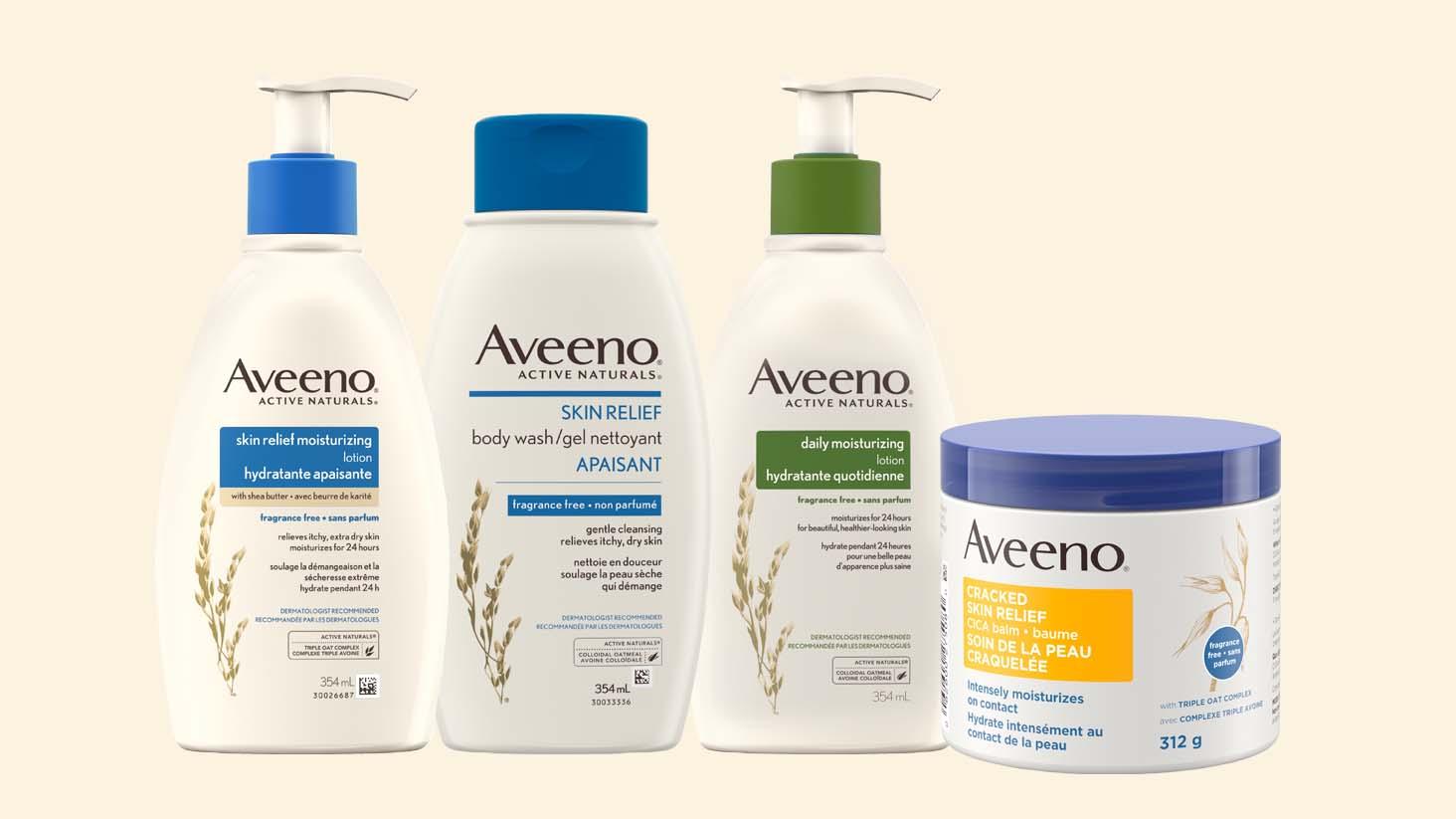 Hydratants AVEENO® pour la peau sèche