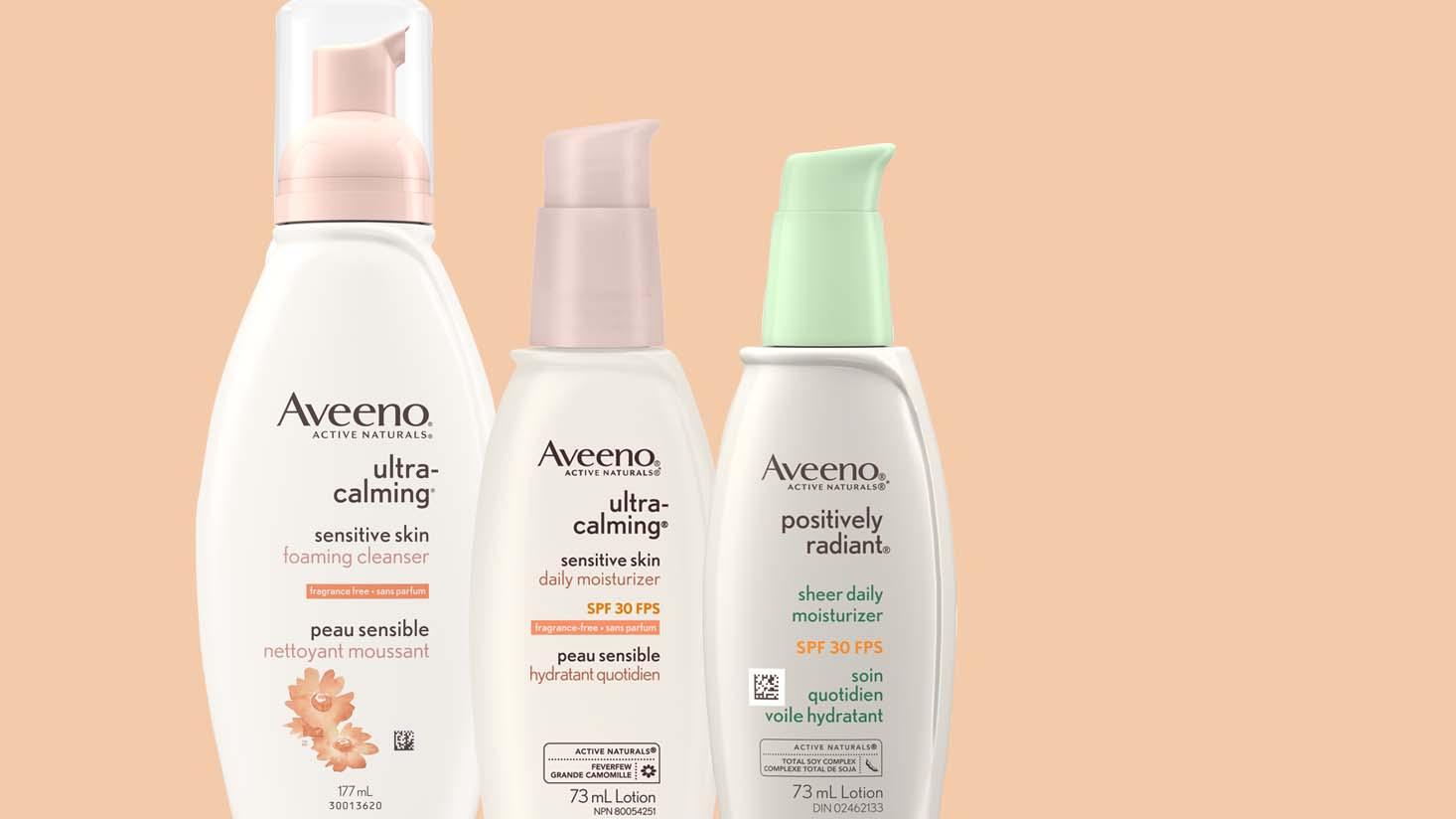 Nettoyants et hydratants pour le visage AVEENO® Peau sensible