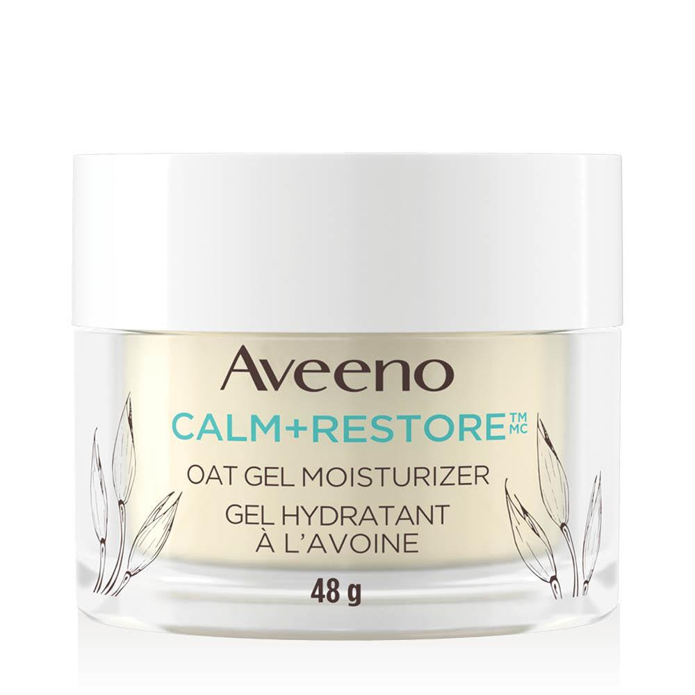Pot de 48 g de gel hydratant à l'avoine pour la peau sensible AVEENO® Calm+RestoreMC