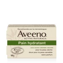 Boîte du pain hydratant pour le corps Aveeno (panneau français)