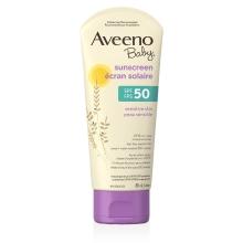 Tube de l'écran solaire peau sensible Aveeno Baby fps 50
