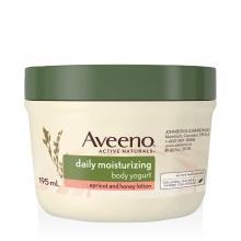 Pot de la lotion au yogourt Abricot et miel Aveeno