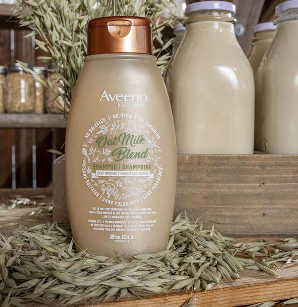 flacon de produit capillaire aveeno au lait d'avoine