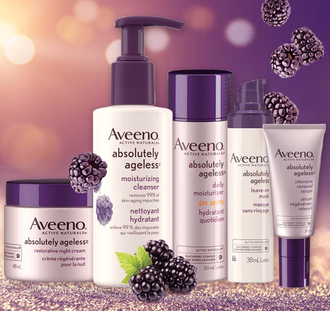 gamme des produits aveeno absolutely ageless