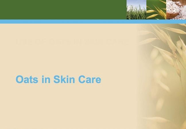 L'avoine dans les soins de la peau